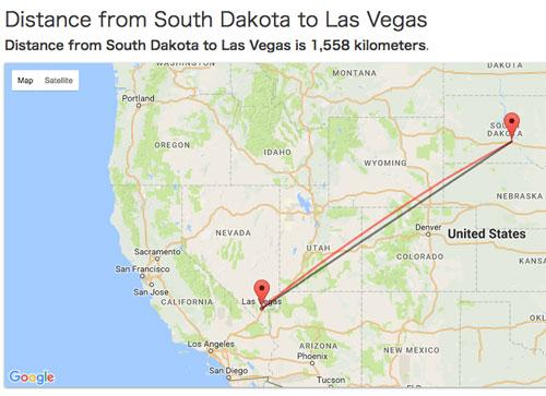 地図 ラスベガス サウスダコタ