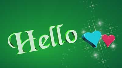 hello, こんにちは, 挨拶