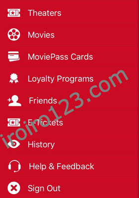 moviepass 画面