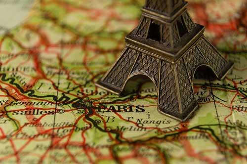 フランス エッフェル塔 パリ 地図